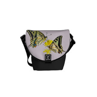 Pretty Butterflies and Flowers Courier Bag