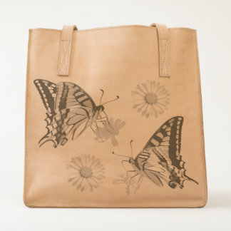 Pretty Butterflies and Flowers Tote