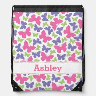 Pretty Butterflies Girl's Drawstring Backpack
