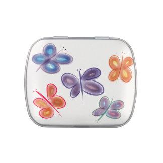pretty butterflies jelly belly tin