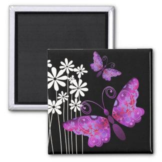 """Pretty Butterflies"" (lilac) by Cheryl Daniels Magnet"