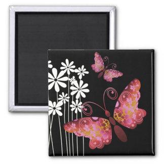 """Pretty Butterflies"" (mauve) by Cheryl Daniels Magnet"