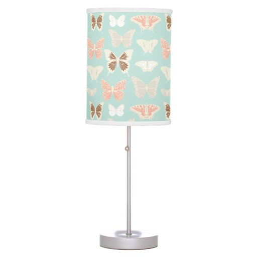 Pretty Butterflies Pattern Girls Desk Lamp