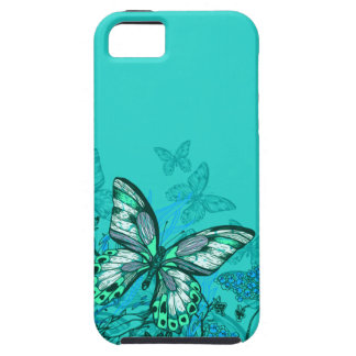 Pretty Butterflies | teal iPhone SE/5/5s Case
