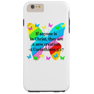 PRETTY BUTTERFLY 2 CORINTHIANS 5:17 DESIGN TOUGH iPhone 6 PLUS CASE
