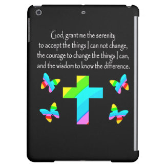 PRETTY BUTTERFLY AND CROSS SERENITY PRAYER DESIGN