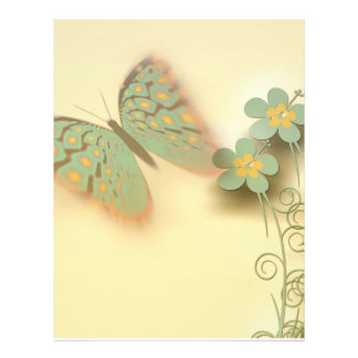 Pretty Butterfly and Flower Background Full Color Flyer