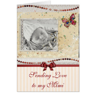 Pretty Butterfly Baby Photo Mimi Card