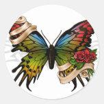 Pretty Butterfly Classic Round Sticker