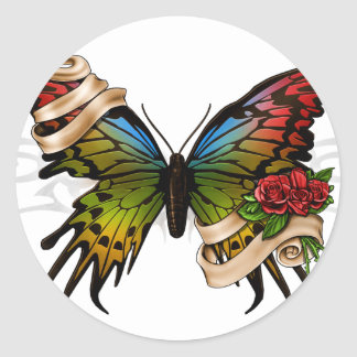 Pretty Butterfly Classic Round Sticker