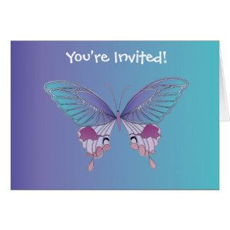Pretty Butterfly Design Card