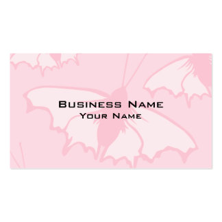 Pretty Butterfly Design in Pastel Pink. Business Card