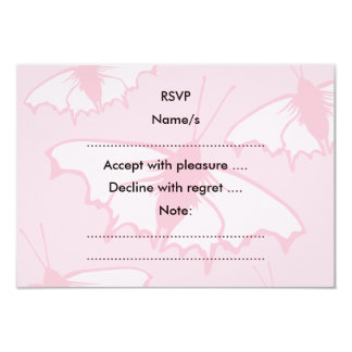 Pretty Butterfly Design in Pastel Pink. Card