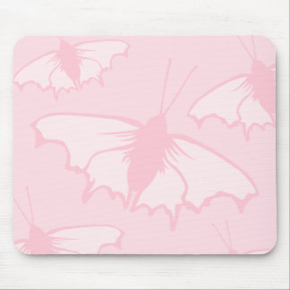 Pretty Butterfly Design in Pastel Pink. Mousepad