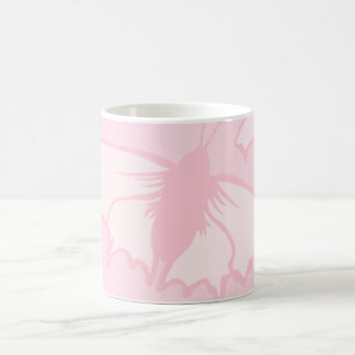 Pretty Butterfly Design in Pastel Pink. Classic White Coffee Mug