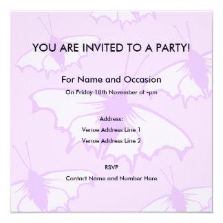 Pretty Butterfly Design in Pastel Purple. Card
