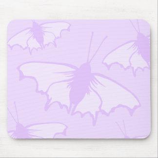 Pretty Butterfly Design in Pastel Purple. Mousepad
