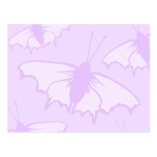 Pretty Butterfly Design in Pastel Purple. Postcard