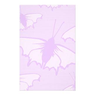 Pretty Butterfly Design in Pastel Purple Stationery Design