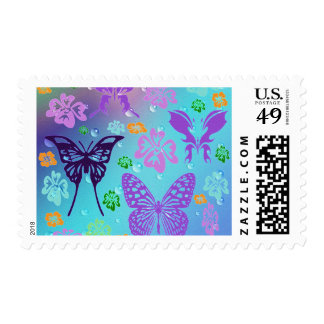 Pretty Butterfly Design Postage Stamp