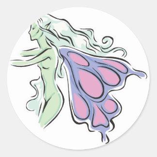 pretty butterfly fairy faery stickers