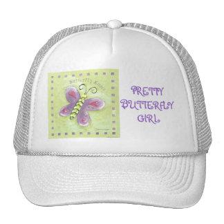 PRETTY BUTTERFLY GIRL TRUCKER HAT