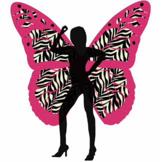Pretty Butterfly Lady Cutout