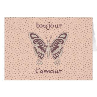 Pretty Butterfly Love Heart Pattern Card