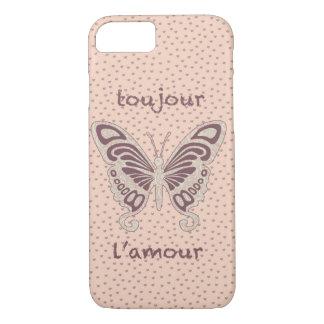 Pretty Butterfly Loveheart Pattern iPhone 7 Case