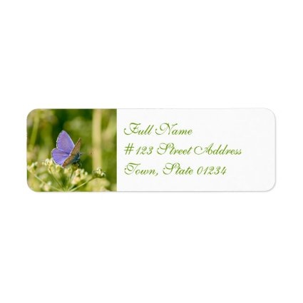 Pretty Butterfly Mailing Labels