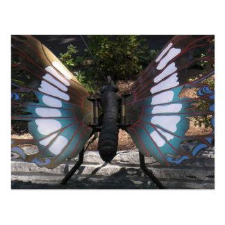 Pretty Butterfly Metal Sculpture Postcard