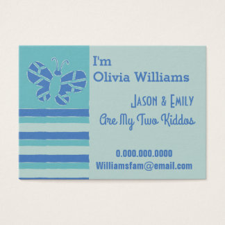 Pretty Butterfly Mommy Business Card