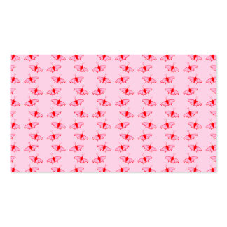 Pretty Butterfly Pattern in Pink and Red. Business Cards
