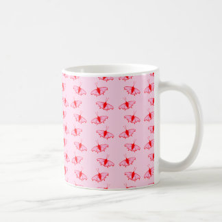 Pretty Butterfly Pattern in Pink and Red. Coffee Mug
