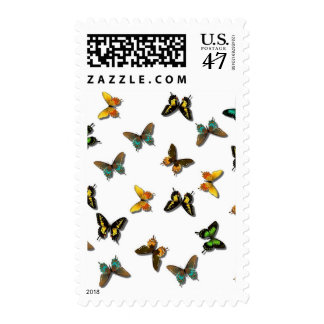 Pretty Butterfly Pattern Postage Stamp