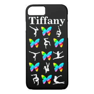 PRETTY BUTTERFLY PERSONALIZED GYMNAST IPHONE CASE