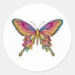 pretty butterfly round sticker