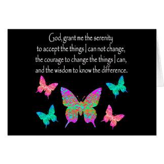 PRETTY BUTTERFLY SERENITY PRAYER DESIGN CARD