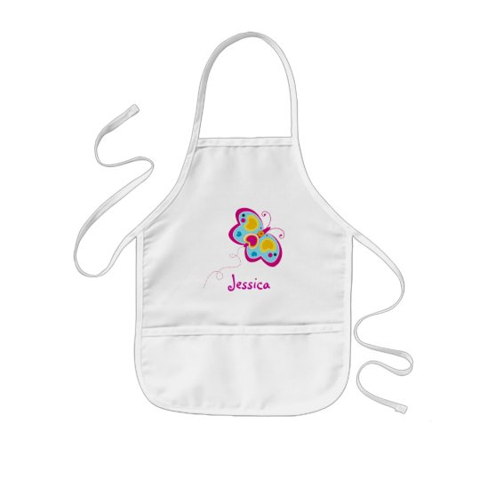 Pretty Butterfly Smock Apron