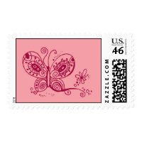 Pretty Butterfly Stamp stamp