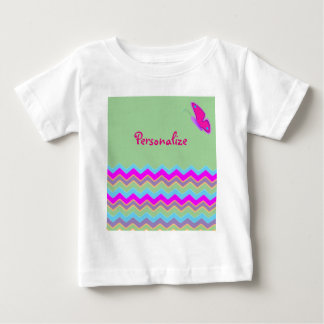 Pretty Butterfly & Stripes Baby T-Shirt