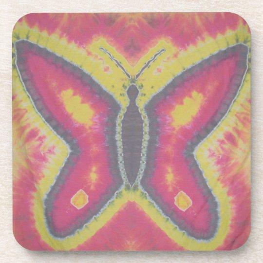 Pretty Butterfly Tie Dye Beverage Coaster