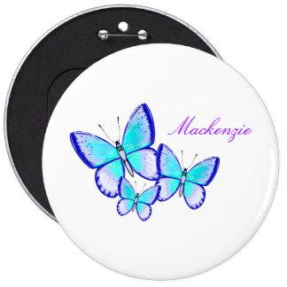 Pretty Butterfly Trio Button