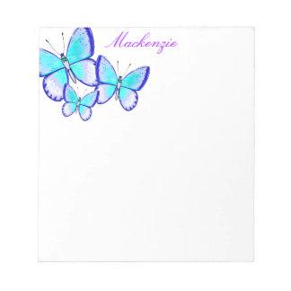 Pretty Butterfly Trio Notepad