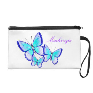 Pretty Butterfly Trio Wristlet