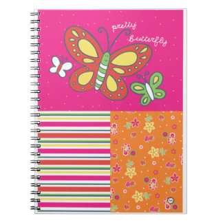 pretty butterfy spiral note books