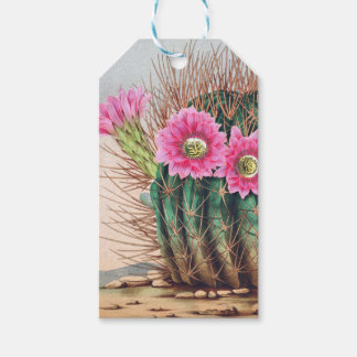 pretty cactus gift tags