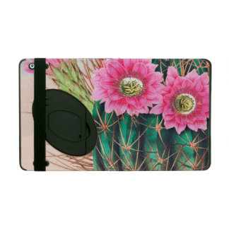 pretty cactus iPad folio case