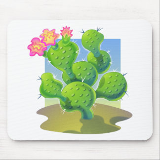 Pretty Cactus Vector Mouse Pad