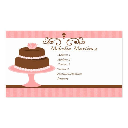 Pretty Cake Business Cards (front side)